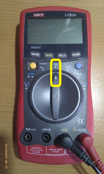 Multimeter for Frequency Measurement