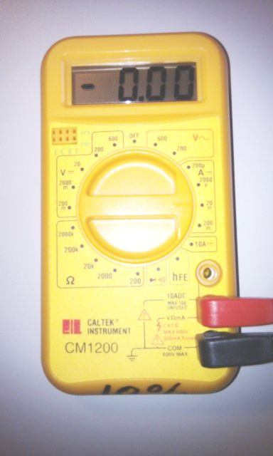 Multimeter used as an Ammeter