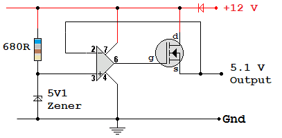 Op-Amp Voltage Regulator with Source Follower