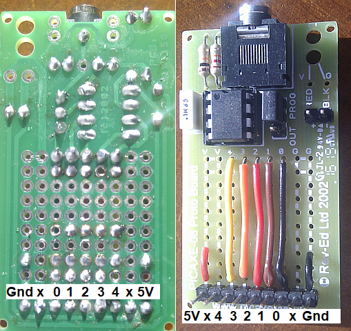 Picaxe Protoboard Connection